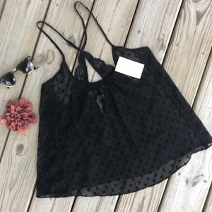 In bloom by Jonquil Black Lace Top NEW